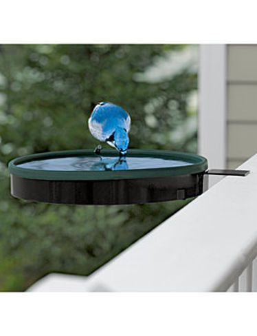 Deck Mounted Heated Bird Bath