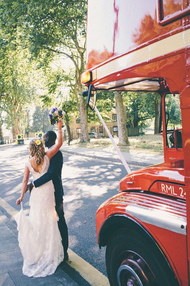 Image by Gary Lashmar. Big red bus. Wedding. Wedding transport.