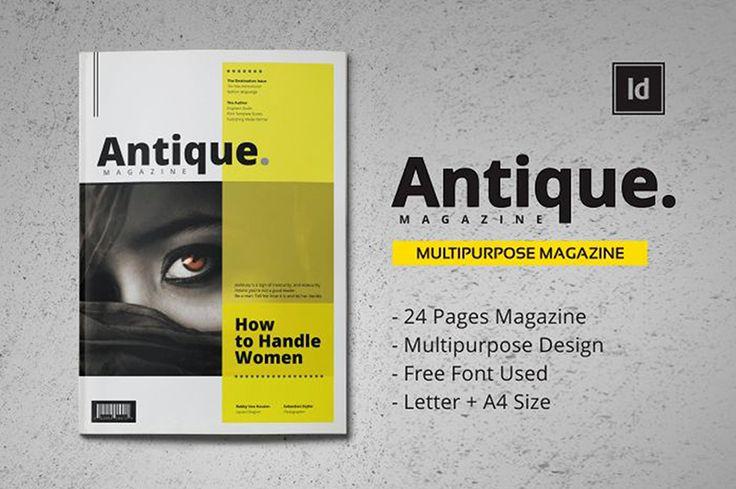 antique magazine template_pixelo #magazine #template