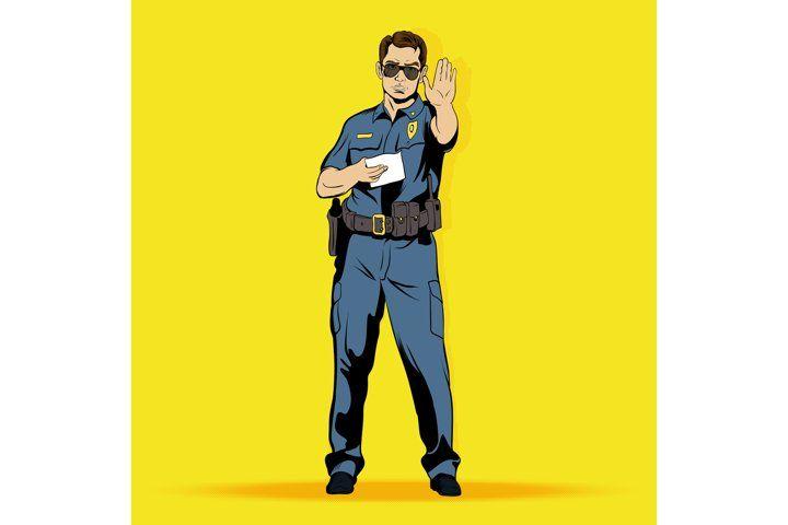 Police Officer Comics Character 552256 Illustrations Design Bundles In 2021 Comic Character Illustration Design Comics
