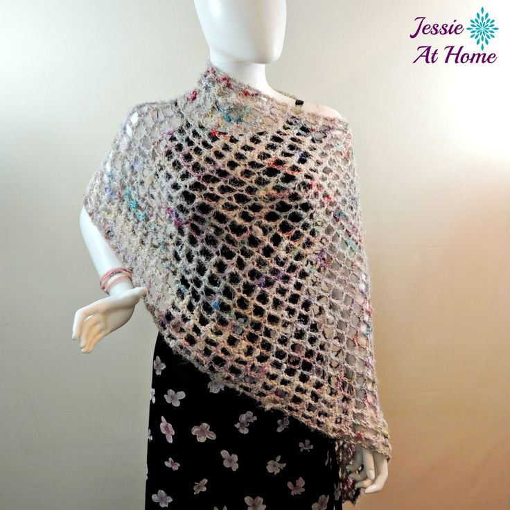 Phoebe Poncho - quick and easy summer crochet pattern!