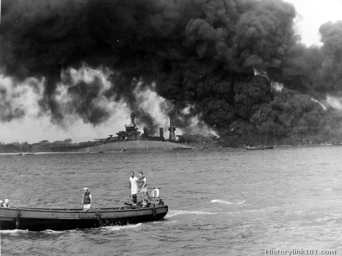 Royalty Free Picture of Attack on Pearl Harbor