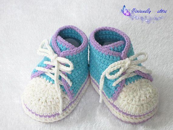 Crochet scarpe da ginnastica bambino handmade di VivianDIY1226
