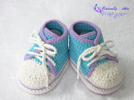 Hey, I found this really awesome Etsy listing at https://www.etsy.com/listing/200297544/crochet-baby-sneakers-handmade-converse