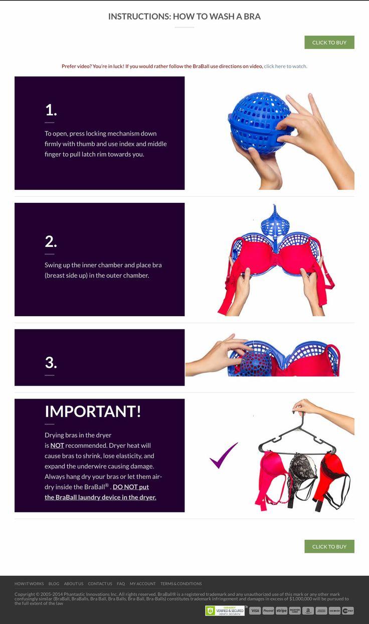 No more hand washing bras - How to use the BraBall Bra Saver