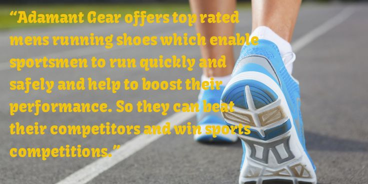 Adamant Gear offers top rated #mensrunning shoes which enable sportsmen to run quickly and safely and help to boost their performance.