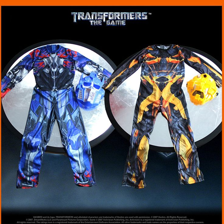 Transformers Costumes - Optimus Prime and Bumblebee. Taxes and delivery included. Learn more at myscreenaddiction.com