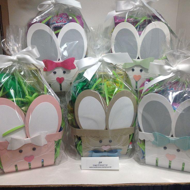 Wednesday, April 1, 2015 Carol's Blog: Bunny Baskets Stampin' Up! Berry Basket Bigz L Die, oval framelits, Gusseted Cellophane Bags