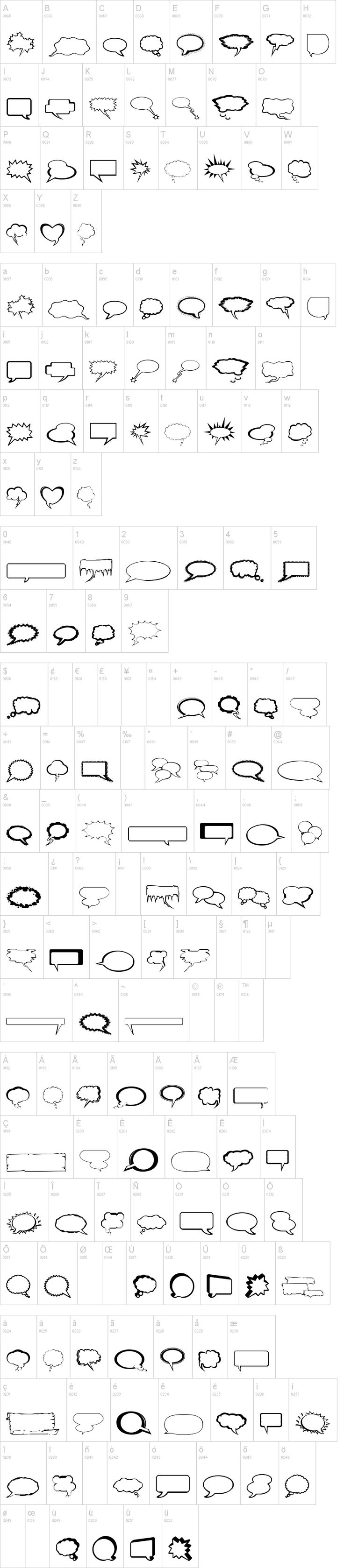 FREE Talkies font: comic book speech bubbles  {dafont.com}