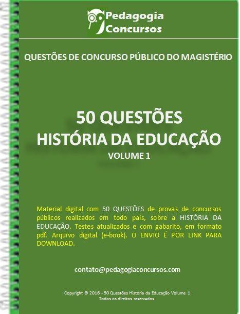 50 Questões sobre a História da Educação