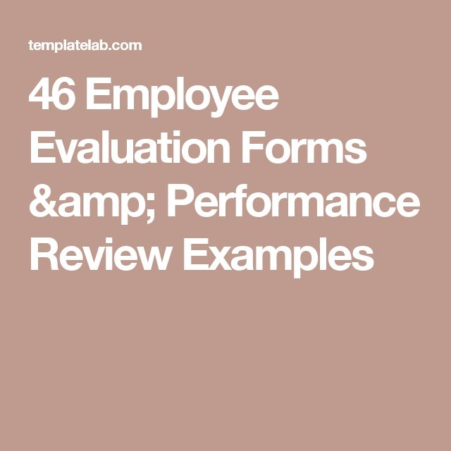 25+ unique Employee evaluation form ideas on Pinterest Self - employee performance evaluation