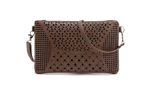 Great for work, shopping or nights out, this cross body bag features two zip compartments for a smartphone, wallet, sunglasses and more