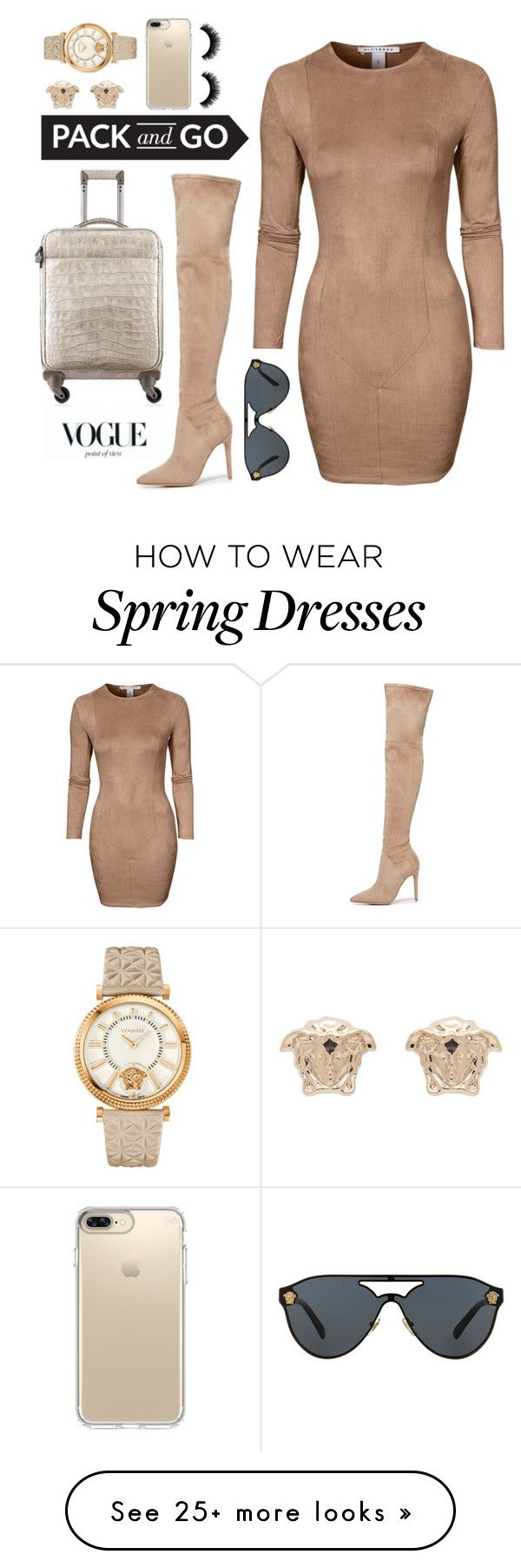 """""""Sorrel Traveler"""" by gatheringstorm on Polyvore featuring NLY Trend, Kendall + Kylie, Chanel, Versace and Speck"""