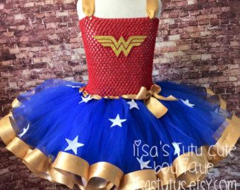 Wonder woman tutu wonder woman dress wonder woman by LisasTutus                                                                                                                                                                                 Mais