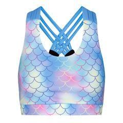 Tikiboo Mermaid Cross Back Bra £26.99 #Activewear #Gymwear #FitnessLeggings #Leggings #Tikiboo #Running #Yoga