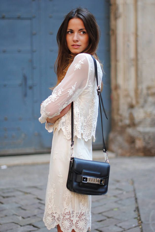 Romantic  white lace outfit