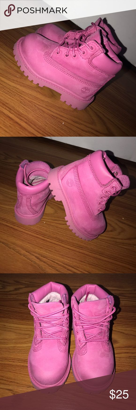 Like new Timbaland Boots Pink Toddler Size 6 Like new Timbaland Boots Pink Toddler Size 6 Shoes Boots