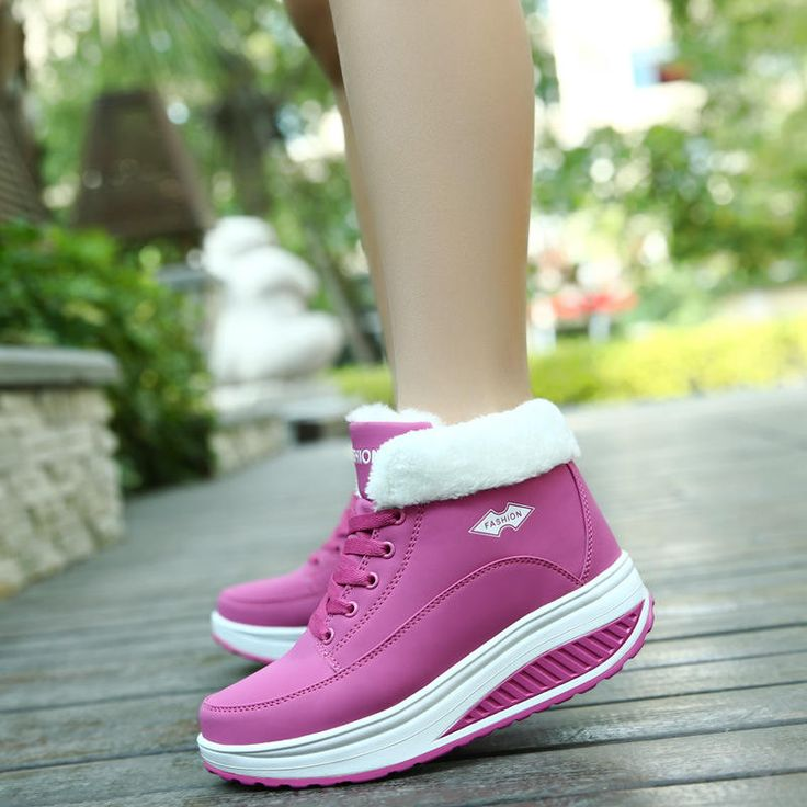 Warm Fur Lining Rocker Sole Platform Boots Women Casual Shoes - US$36.69