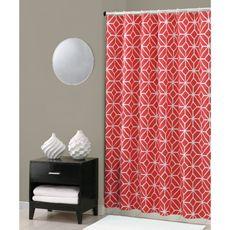Trina Turk Trellis Shower Curtain - Coral