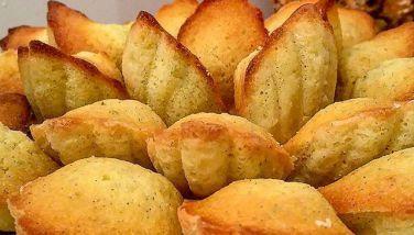 Madeleines vanillées et citronnées