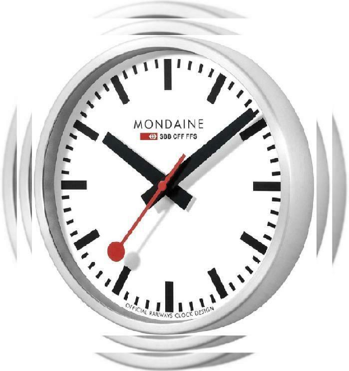 Mondaine A990 Clock 16sbb Wall Clock White Dial Fashion Home Garden Homedcor Clocks Ebay Link Clock White Wall Clocks Led Wall Clock