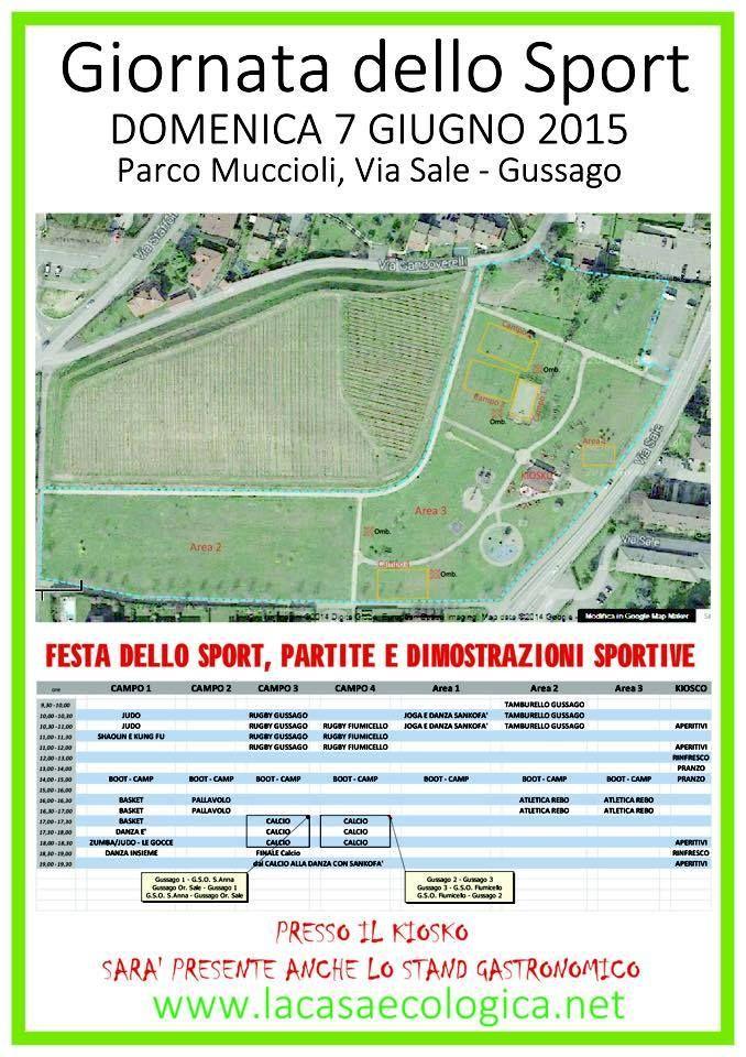 """Domenica 7 giugno la """"Giornata dello Sport"""" - http://www.gussagonews.it/giornata-sport-giugno-2015/"""