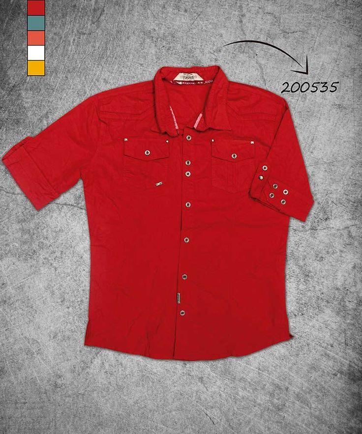 camisa-hombre-manga-tres-cuartos-color-rojo-shirt-three-quarter-red-color-200535