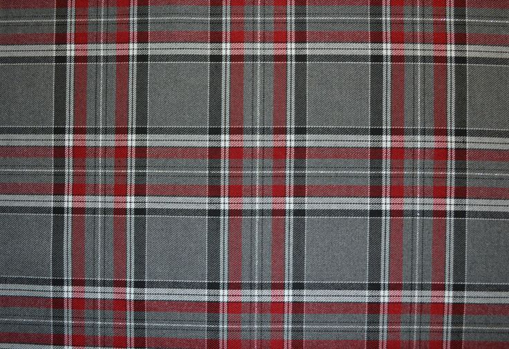 Gray and red fabric grey red tartan c5739 fabric for Cloth world fabrics