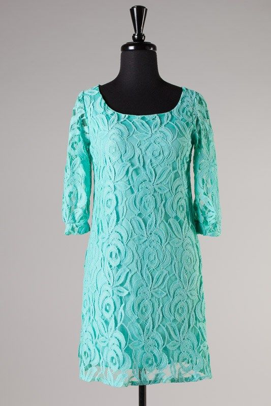 Turquoise lace dress, country turquoise lace dress, turquoise lace bridesmaids dress $38