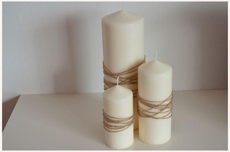 DIY- Dienstag: Kerzen mit Juteschnur veredeln #diy #deko #decoration #trend #tutorial #anleitung #selbermachen #filizity