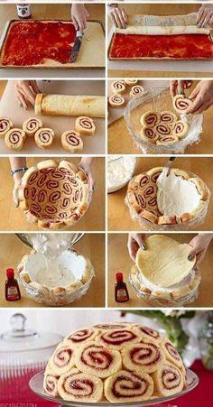 Share this on WhatsApp Stampa Facebook0 Pinterest0 Google +0 LinkedIn0 Tweet Fresco e goloso zuccotto, da realizzare per i nostri ospiti! Foto illustrativa dal web! PER IL GELATO : 500 ml di panna 3 cucchiai di zucchero a velo 1 cucchiaino essenza vaniglia PER IL ROTOLO ALLA MARMELLATA : http://blog.cookaround.com/veronic/rotolo-alla-marmellata/ PREPARAZIONE : Per prima cosa occupatevi del rotolo, seguendo la …