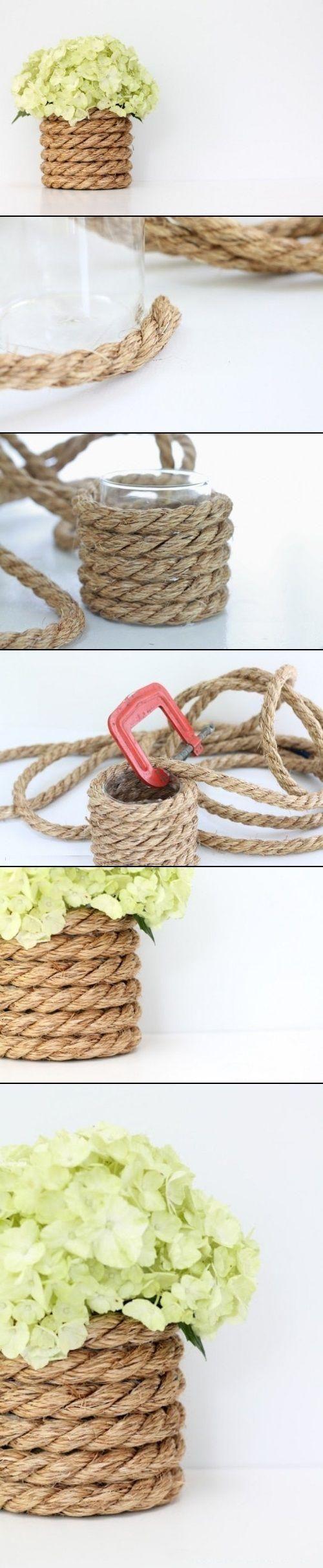 Kwietnik z liny - zrób to sam - instrukcja