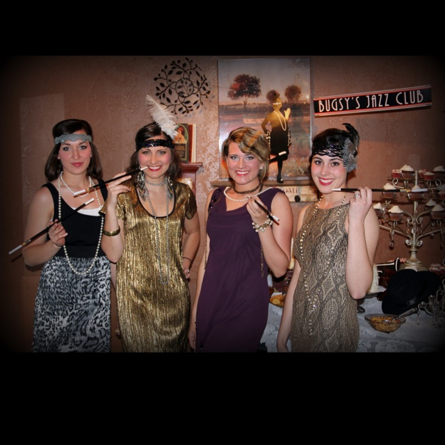 Foxy flappers at the twenties birthday party...
