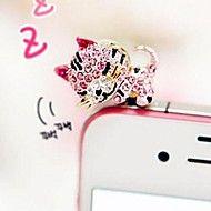 slaperige kat 3.5mm anti-dust plug voor iPhone 5 ... – EUR € 2.99