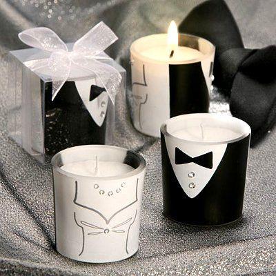 Vela dual con novio y novia para tu recuerdo de bodas…
