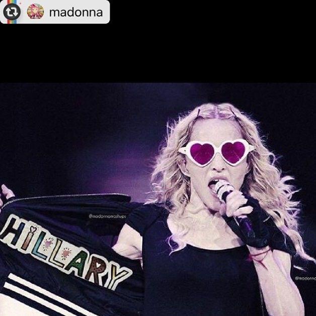 Madonna - elections 2016 -Hilary