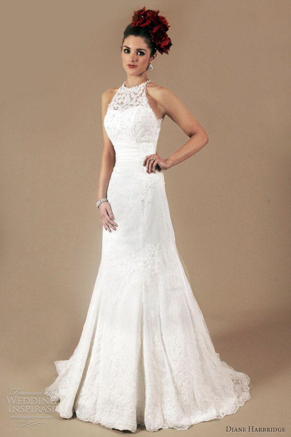 Diane Harbridge, halter neck wedding dress 2012, wedding, bride, bridal, wedding dress, wedding gown, bridal gown