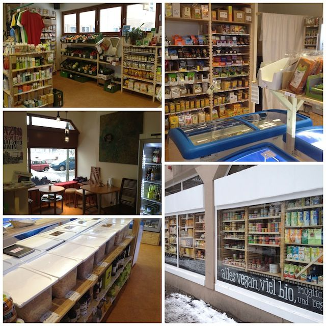 Dr. Pogo grocery store. A collective that is smaller than Veganz, but is slightly cheaper.