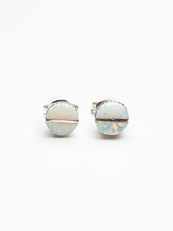 white opal studs / free people