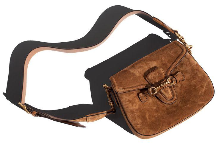 Suede Gucci shoulder bag / Garance Doré