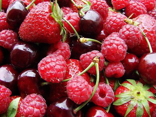 mmmmm les fruits rouges!