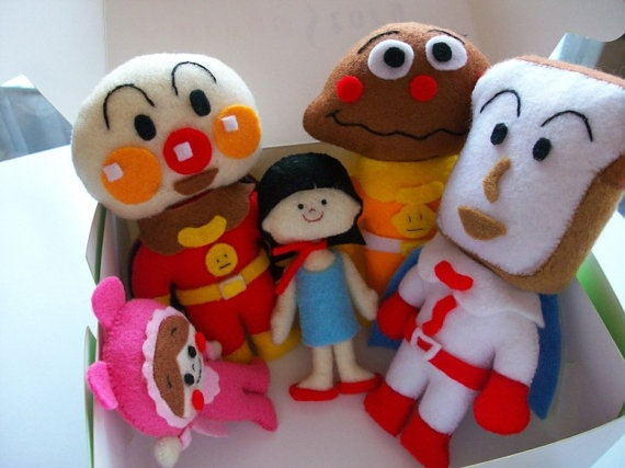 anpanman felt dolls