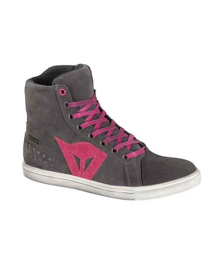 Dainese Street Biker Lady D-WP Waterproof Womens Shoes,Anthracite/Fuchsia,EUR-39