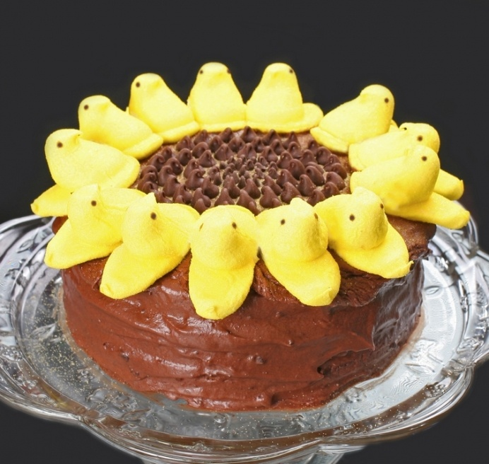 Sunflower Peeps CakeDesserts, Holiday Ideas, Sweets Cake, Peep Cake, Peep Sunflowers, Peep Sunflowercak, Sunflowers Cake, Birthday Cake, Sunflowers Peep