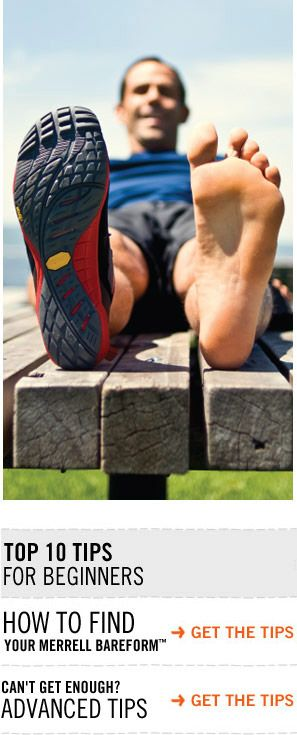 Benefits of Merrell Barefoot shoes (You'll start building muscles you didn't know you have)