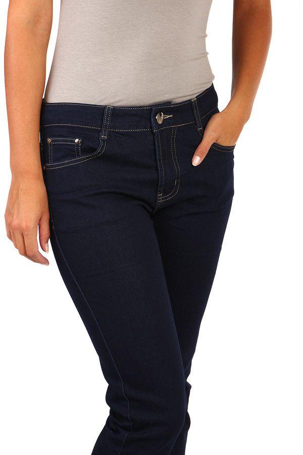 Dámské tmavě modré džíny - i pro plnoštíhlé - koupit online na Glara.cz   glara  fashion  džíny  dziny  dámskédžíny  damskedziny  jeans  rifle   dámskéjeans ... b382792996