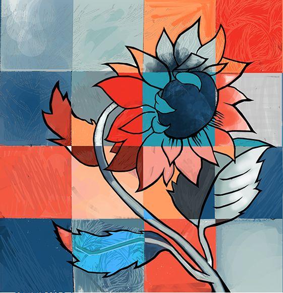 Sunflower Digital Painting. Digital PaintingsSunflowersArtArt ...