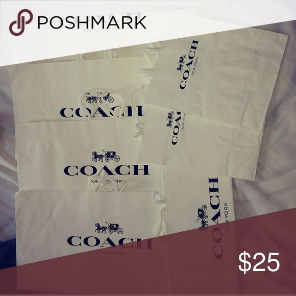 Coach shopping bags 3 different sizes. The 2 smallest bags are wrinkled from storage. Coach Bags Shoulder Bags
