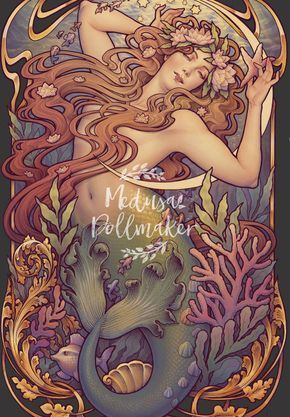 2 prints LITTLE MERMAID and Cosmic Lover REserved LIsting