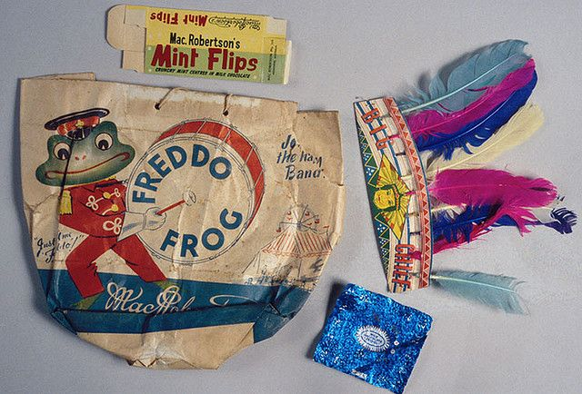 MacRobertson's Freddo Frog show bag. by Mimmo Cozzolino (no date given)